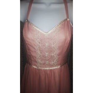 70's Pink Sleeveless Maxi Dress by Gunne Sax