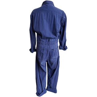 Faded Blue Distressed Coveralls