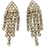 Five Strand Rhinestone Dangle Earring