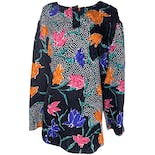 Floral and Polka Dot Tunic Top by Sportland Modes