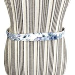 another view of Blue and White Floral Belt