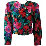 Floral Double Breasted Bolero by Maggy London
