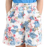 90's Floral Pleated Denim Shorts by Vivaldi