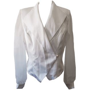 Formal Single Button Jacket with Sheer Sleevesby J.R. Nites