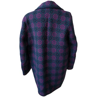 Geometric WoolButton Up Jacketby Welsh Woolens