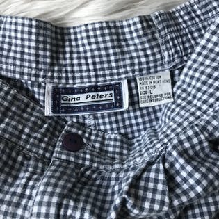 90's Gingham High Waisted Shirts by Gina Peters
