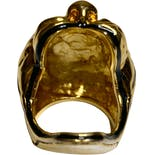 another view of Gold Tiger Ring