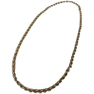 Gold Chain Mail Necklace