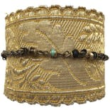Gold Trim Bracelet with Gemstones by Sarafiné