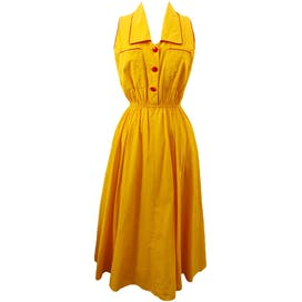 80's Golden Yellow Sundress by Petite Focus