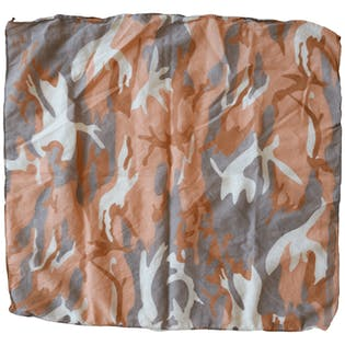 Gray and Peach Camo Bandana