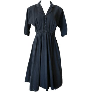 Gray Quarter Length Sleeve Dress with Cinched Waist by Especially Yours