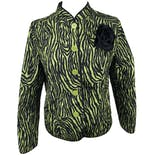 Green and Black Zebra Pattern Jacket by Hannah