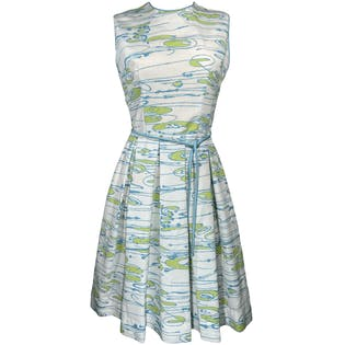 Abstract Water Gardens Sleeveless Dress