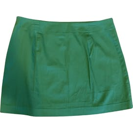 90's Green Micro Mini Skirt by Express