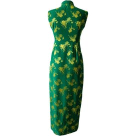 Green and Yellow Chinese Party Dress