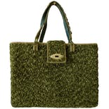 70's Green Carpet Large Tote