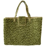 another view of 70's Green Carpet Large Tote