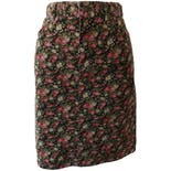 Green Corduroy Mini Skirt with Pink and White Flowers by Jones New York Sport