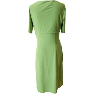 Green Formal Dress With Rouching