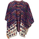 another view of Guatemalan Multicolor Poncho