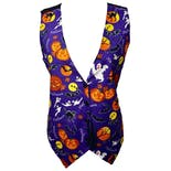 Halloween Print Vest with Jack-O-Lanterns by Basic Editions