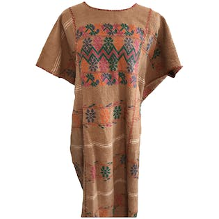Hand Embroidered Caftan Huipol Dress Unisex