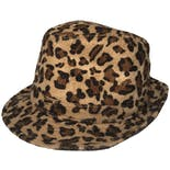 Brown, Beige, and Black Cheetah Hat