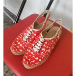 another view of Heart Print Platform Espadrilles by Stella Mccartney