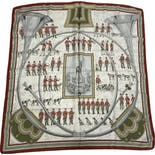 another view of Sonneurs De Trompe Silk Scarf by Hermes