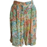 High Rise Floral Painting Shortsby SK Wear