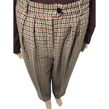 90's High Waist Houndstooth Trousers by Escada