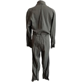 Hunter Green Coveralls with Velcro and Zipper Details