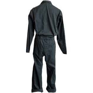 Hunter Green Coveralls with White Zippers