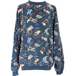80's/90's Blue Cowboy Boot Print Sweatshirt by Early Man Images