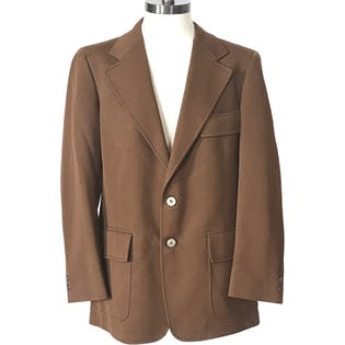 70's Brown Double Button Blazer by Curlee