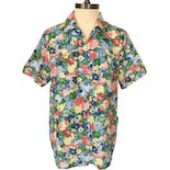 80's/90's Multicolor Floral Print Short Sleeve Button Up by Blair