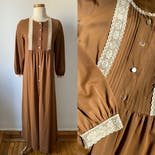 another view of 70's Toffee Colored Dress