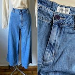 another view of 90's Wide Leg Crop Jeans