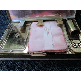 50's Mother of Pearl Compact Clutch by Evans
