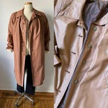 another view of 70's Burnt Orange Trench Coat