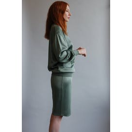90's Sage Green Sweater and Skirt Set by Alaia