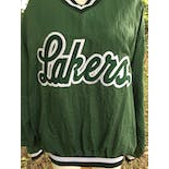 another view of Green Letterman Lakers Graphic V-Neck Pullover Sweatshirt