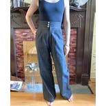 another view of High Waisted Cummerbund Pants