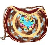 Round Crochet Crossbody Bag