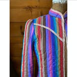 another view of 70's Quilted Rainbow Stripe Jacket