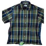 another view of 60's Deadstock Men's Plaid Shirt by Brent