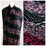 another view of Velvet Animal Print Evening Scarf