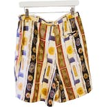 another view of 90's Multicolor Silk Printed Shorts by A.J. Christopher