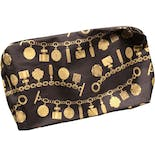 90's Gold Chain Print Make Up Bag by Estee Lauder